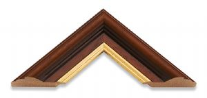 Traditional Brown Wide Picture Frame